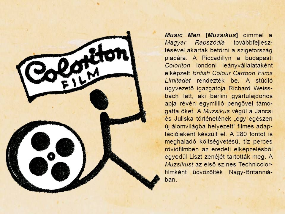 Music Man [Muzsikus] címmel a Magyar Rapszódia továbbfejlesz-tésével akartak betörni a szigetország piacára.